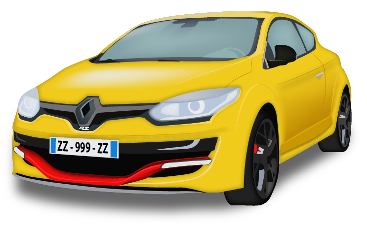 megane-RS illustration vectoriel K-VisioCity Pierrick Kartner